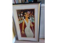 Large limited edition print of painting by Marsha Hammel, signed and numbered