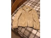 Fur jacket size 8