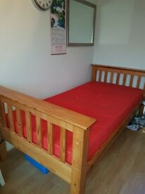 Pine bunk beds or 2 single beds with mattress
