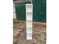 White / Furniture To Go 4 YOU Tall Narrow Bookcase with Melamine, 30 x 190 x 35 cm