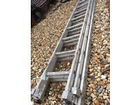 Set of triple ladders aluminium