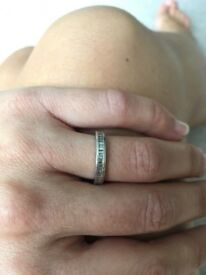 Beautiful bespoke eternity / wedding / engagement platinum diamond ring
