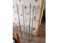 Glass shelve unit. FREE delivery in Derby
