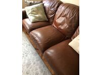 Leather three seater settee very comfy well made unlike some modern furniture