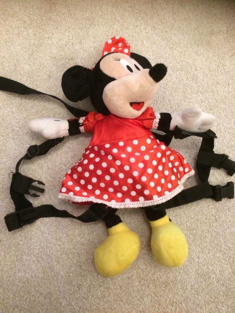Minnie Mouse backpack and reins