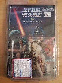 Star Wars yoda die cast key ring