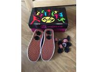 Size 3 Heelys pink and black