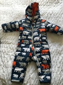 Baby snow suits Hatley 12-18months
