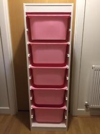 Ikea Trofast storage unit and boxes