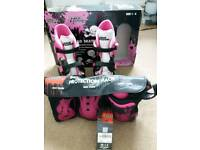 Quad Skates and protection pack
