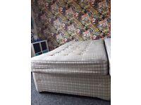 Free Double Divian Bed & Mattress Layzee
