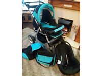 Pram, Pushchair, Carseat 3 in 1 in good condition.