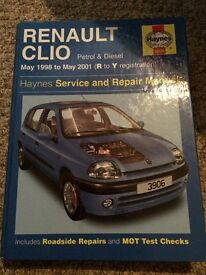 Renault Clio Haynes manual 1998-2001