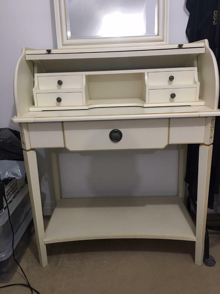 Bureau Dressing Table And Wall Mount Mirror In Hull