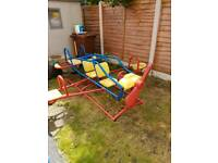 Outdoor aeroplane seesaw by Costco