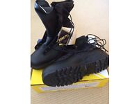 Brand new, boxed, military issue black flying boots. Size US10 (UK 9.5)