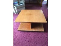 80's Teak coffee table and sideboard