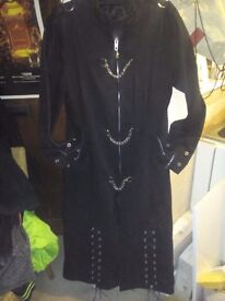 dark style, long trench coat.. superb condition.
