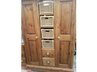 Beautiful solid pine wardrobe
