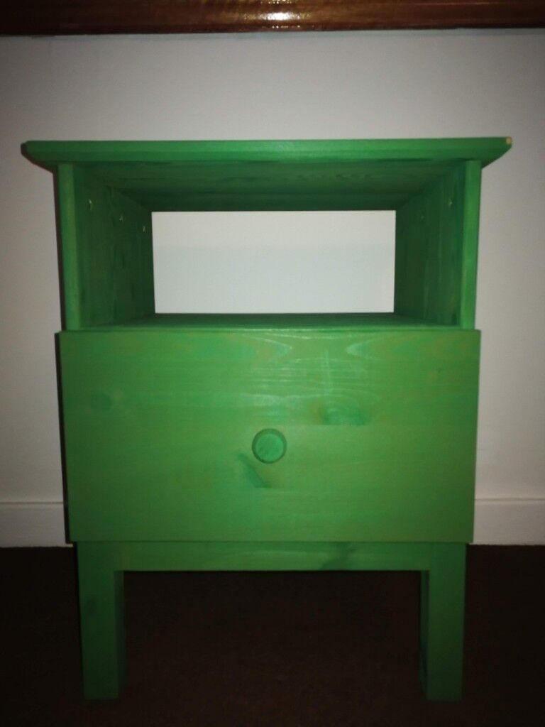 Bedside Table Ikea Green Tarva