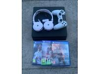 PS4 slim bundle with headset and gard