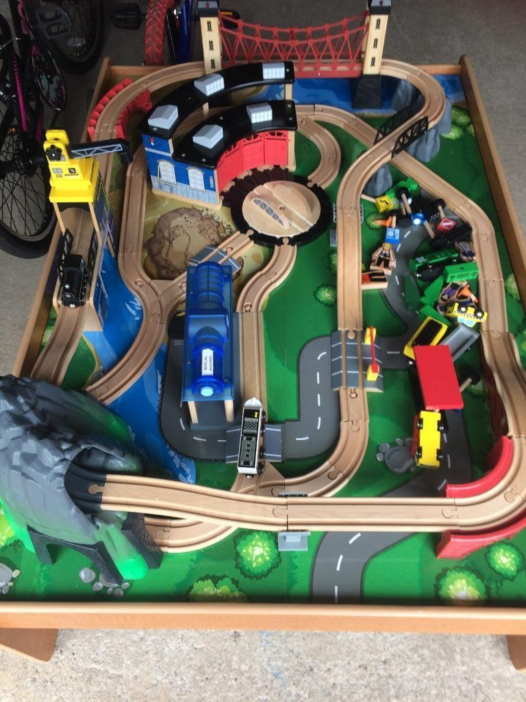 mountain rock train table  universe of imagination    must see