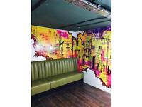 MURAL ARTIST IN EAST LONDON