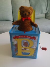 Schylling Classic Tin ABC Jack in the Box (Tin Music Box). £5.00. Kennington SE11 5NG London