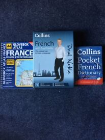 Collins learn French with Paul Noble 12 CD course plus French dictionary and roadmap