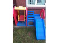 Climbing frame with slide and swing. Little Tykes