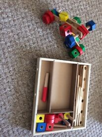 Toys( construction set and airport playset)