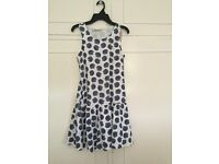 Blue and white dress age 12 BNWT