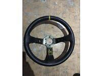 Genuine OMP Deep Dish Steering Wheel