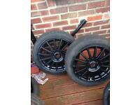 Ford st 17inch alloys and tyres fit Peugeot as well 4x108