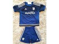 Childrens Cardiff City football kit