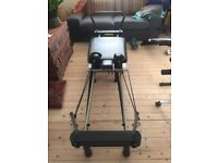 AreoPilates 4 cord Reformer with Free Form Cardio Rebounder for sale with DVD and Chart