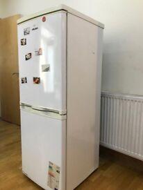 White bush fridge and freezer fully working