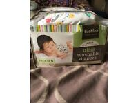 Used Baby Reusable Diapers And Booster Bundle