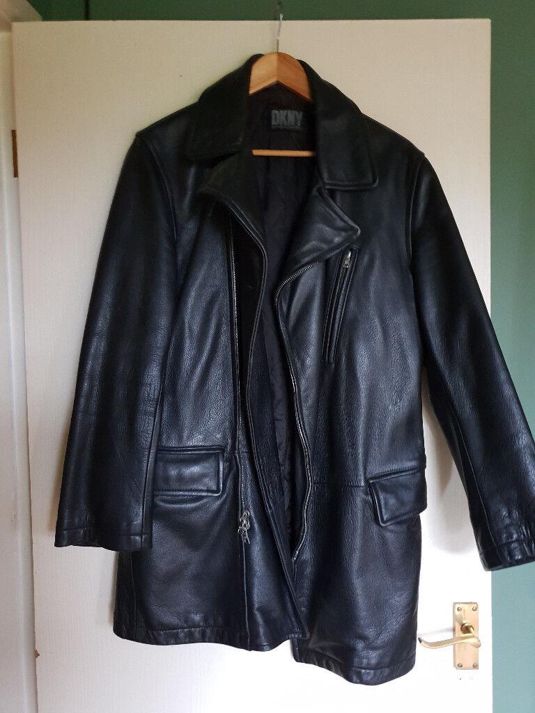 50fa6c04e1cf dkny stylish 3 4 length coat