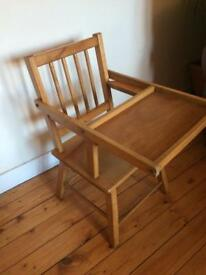 Wooden vintage style child's chair