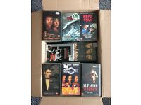 74 VHS video tapes job lot box full
