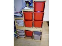 Ikea Trofast storage combination with boxes.