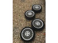 4x100 Fox alloys wheels with very good tyres