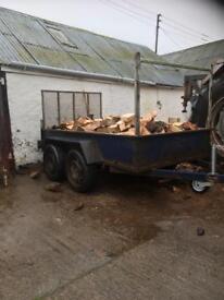 Firewood 8x4 trailer load
