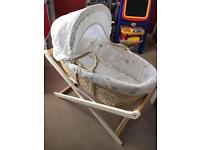 Mothercare Moses Basket & Premium Folding Stand