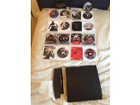 PS3 slim line 360gb with pad and games ONO