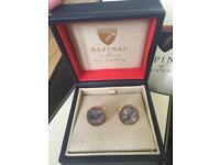 ASPINAL OF LONDON Gold Plated & Sterling Silver Plated Round Cufflinks - BRAND NEW