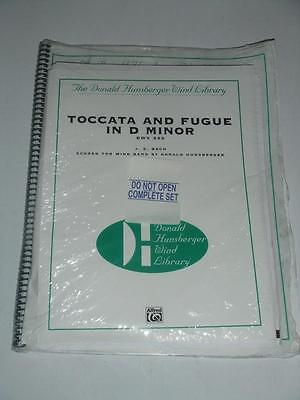 TOCCATA and FUGUE in D MINOR BWV 565 J. S. BACH Concert Band Cond. Score &