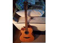 LAG Tramontane Semi Acoustic Guitar Left handed