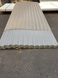 corrugated steel sheets, slate grey polyester